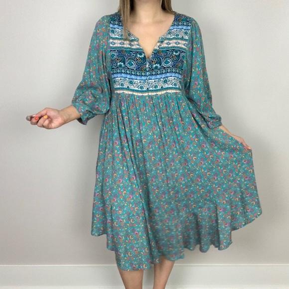 Gone Coastal Peasant Dress Plus Size